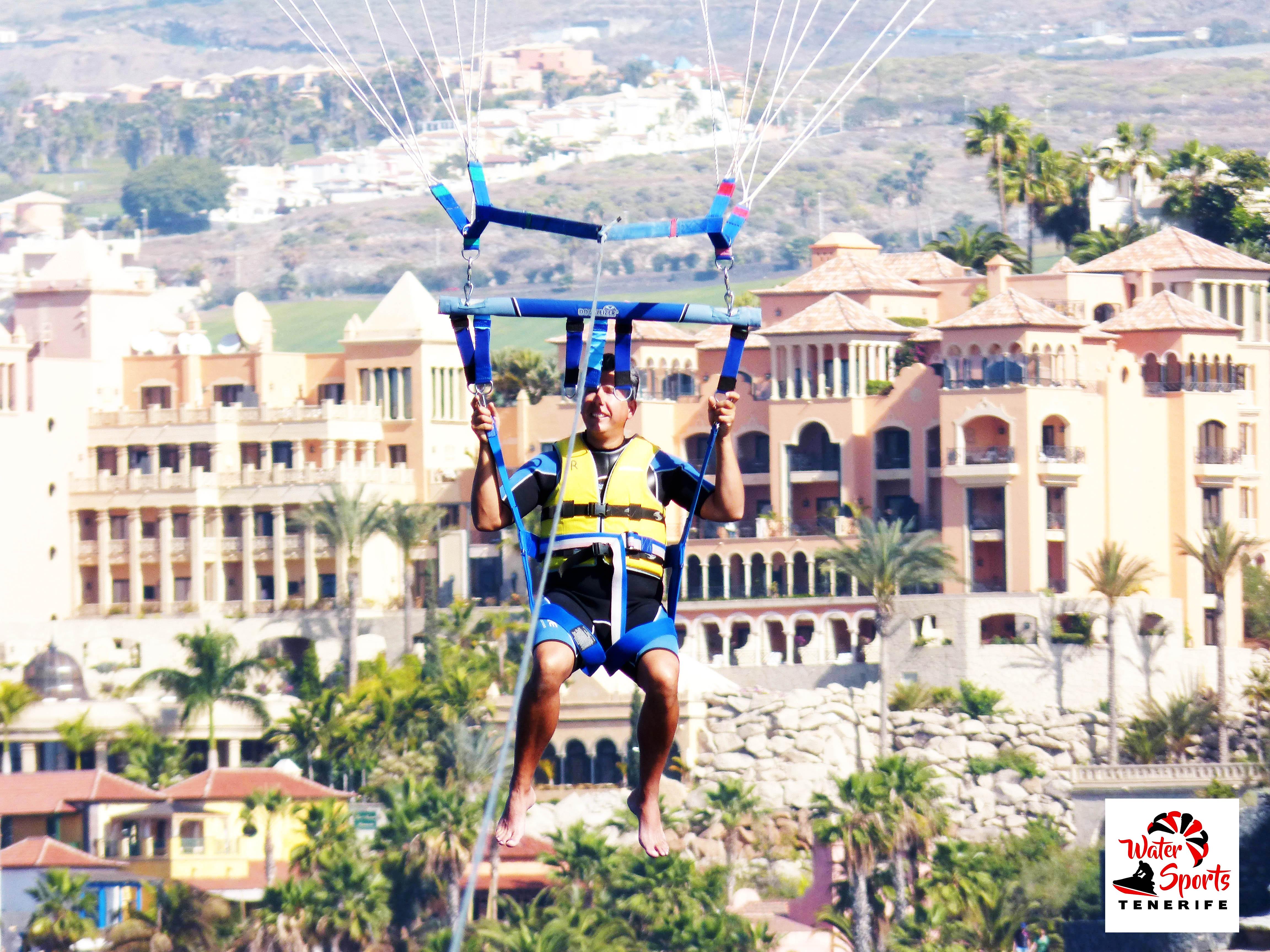 parapente parascending paracaidas vistas increibles en costa adeje puerto colon