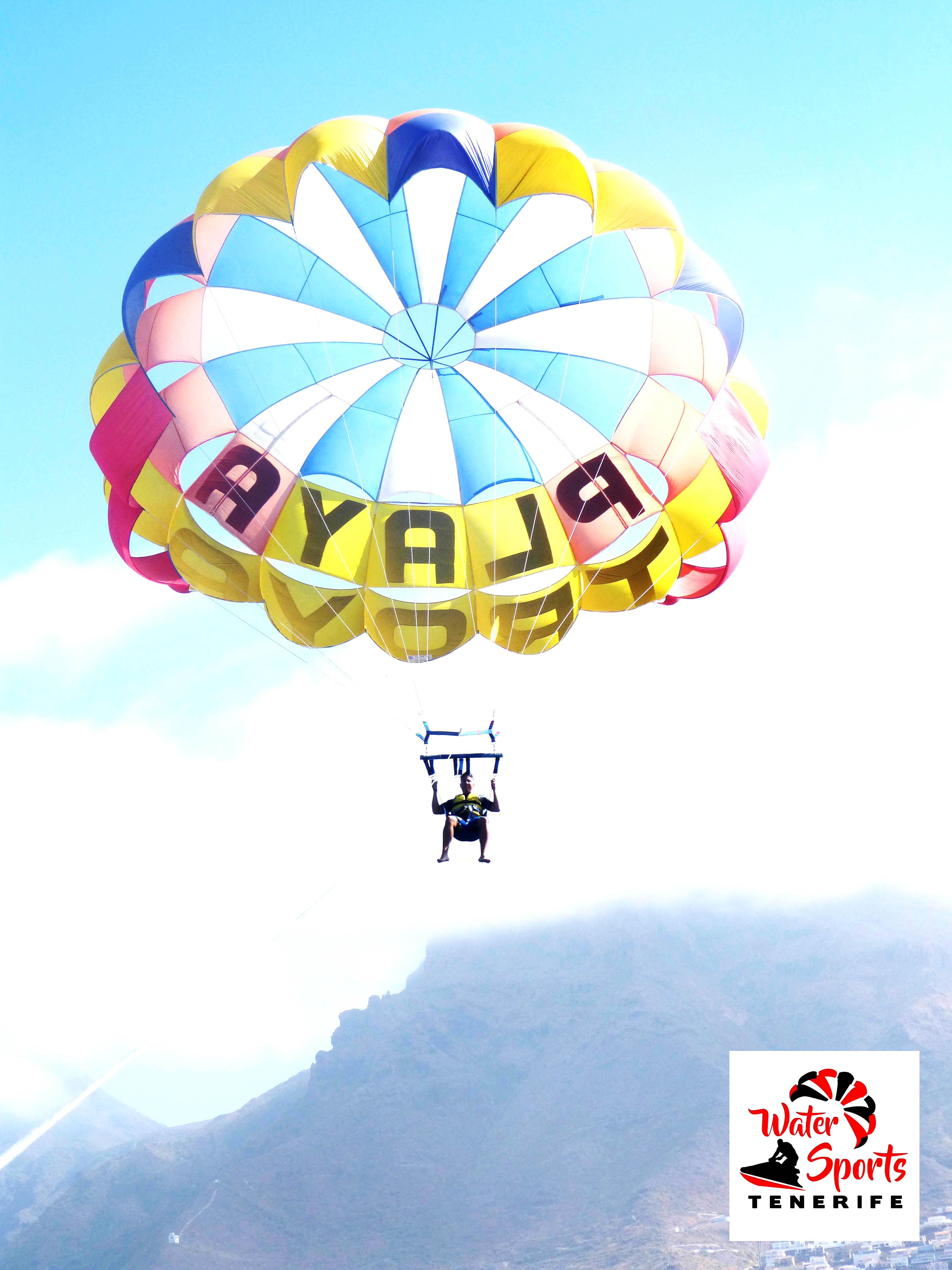parapente parascending paracaidas vistas increibles en fañabe el medano