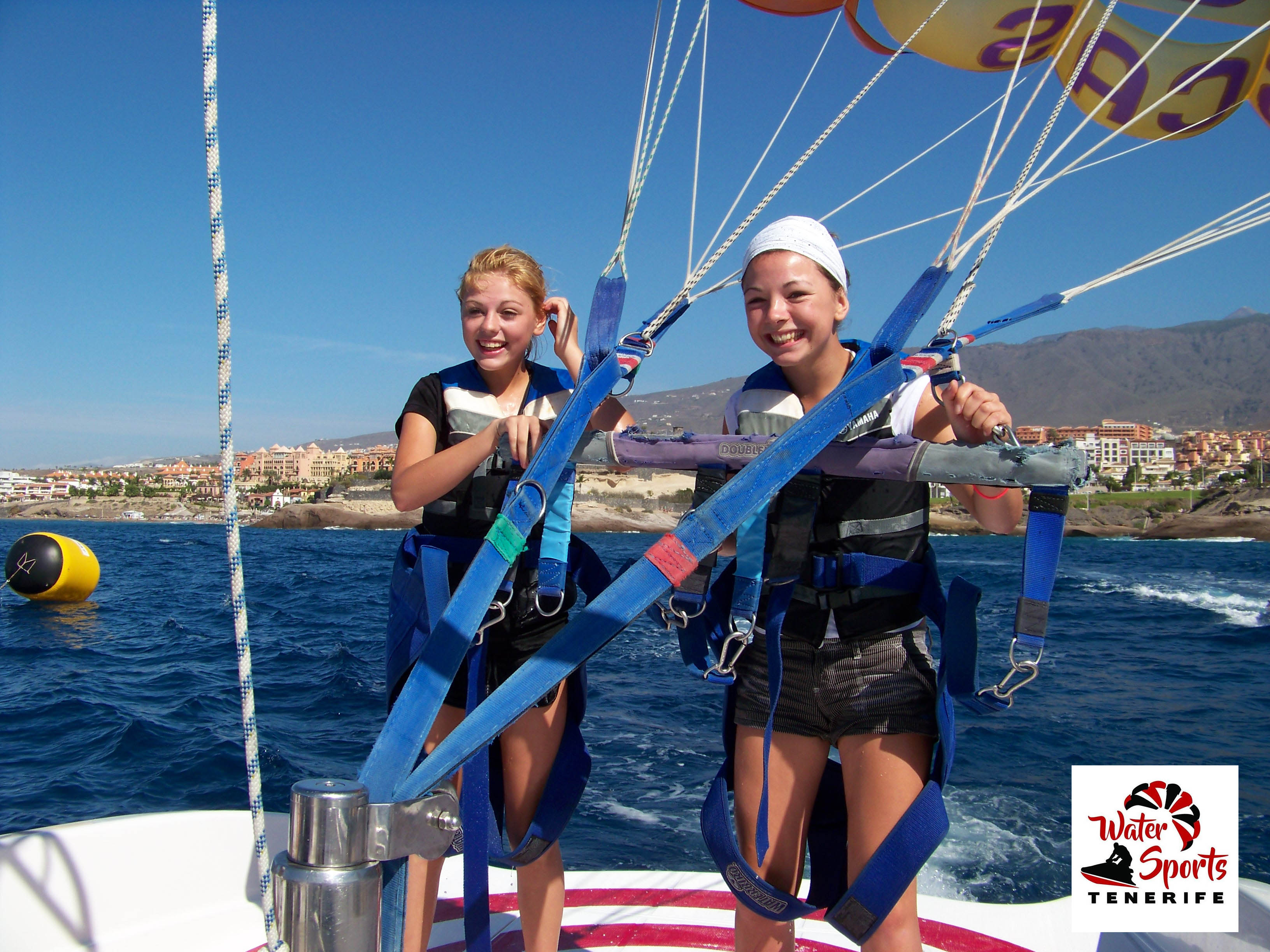 parascending in adeje arona water sports and activities