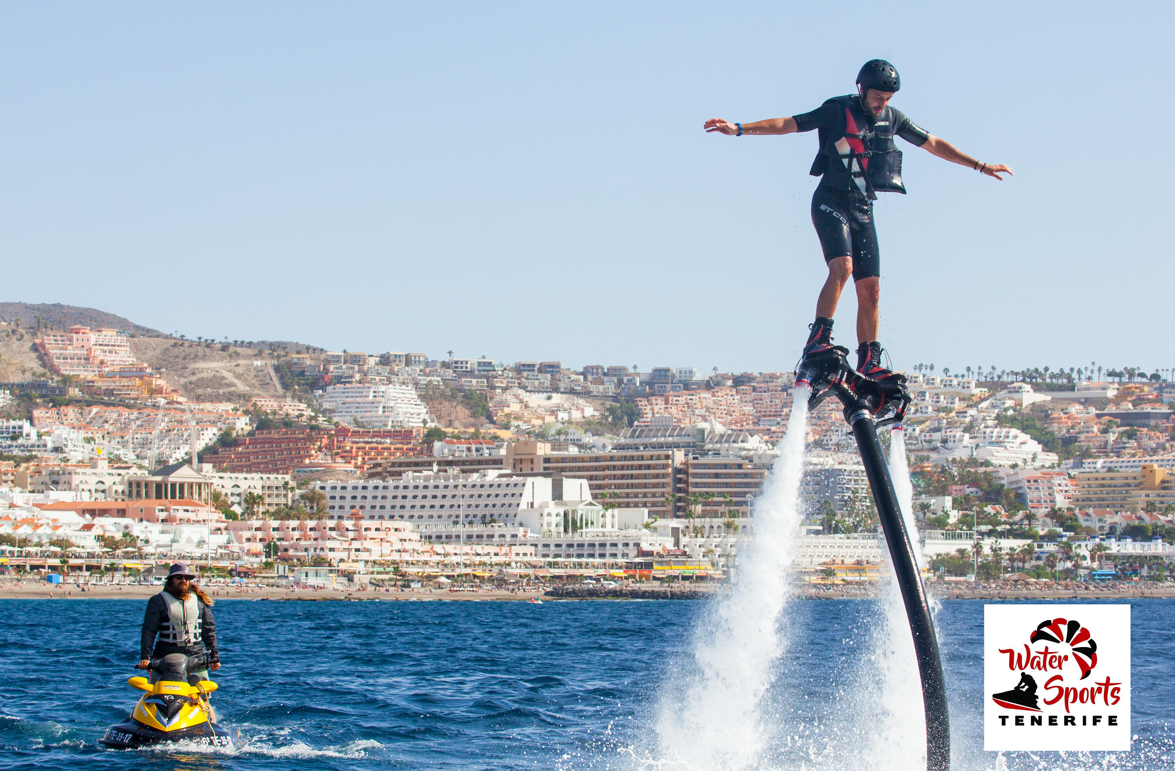 flyboard water sports in los cristianos in las americas